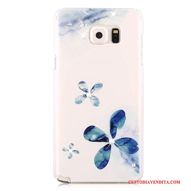 Custodia Samsung Galaxy Note 5 Colore Sottilitelefono, Cover Samsung Galaxy Note 5 Strass Macchiati Blu