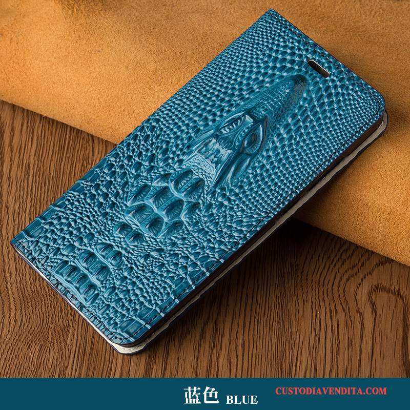 Custodia Samsung Galaxy Note 5 Folio High End Lusso, Cover Samsung Galaxy Note 5 Pelle Blu Scuro Di Personalità