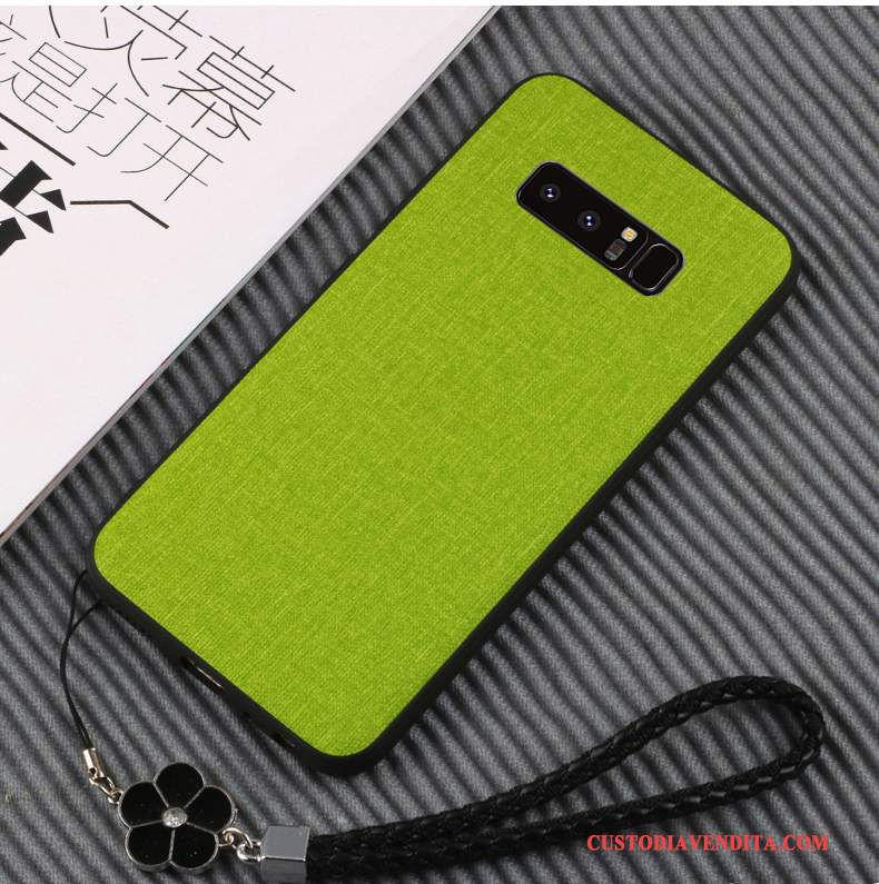 Custodia Samsung Galaxy Note 8 Pelle Tutto Inclusotelefono, Cover Samsung Galaxy Note 8 Silicone Morbido Verde