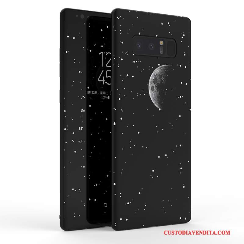 Custodia Samsung Galaxy Note 8 Silicone Grande Nero, Cover Samsung Galaxy Note 8 Creativo Nuovo Anti-caduta