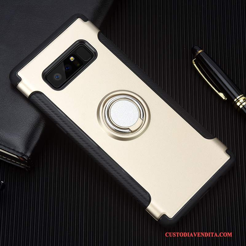 Custodia Samsung Galaxy Note 8 Silicone Morbido Anti-caduta, Cover Samsung Galaxy Note 8 Creativo Oro Supporto