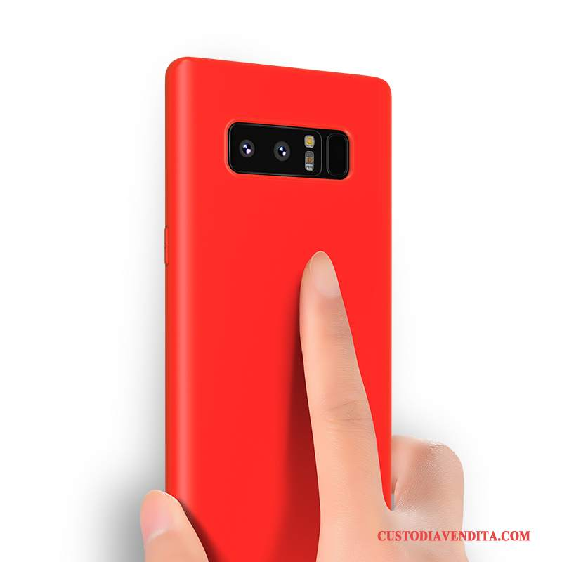Custodia Samsung Galaxy Note 8 Silicone Sottile Rosso, Cover Samsung Galaxy Note 8 Creativo Telefono Tutto Incluso