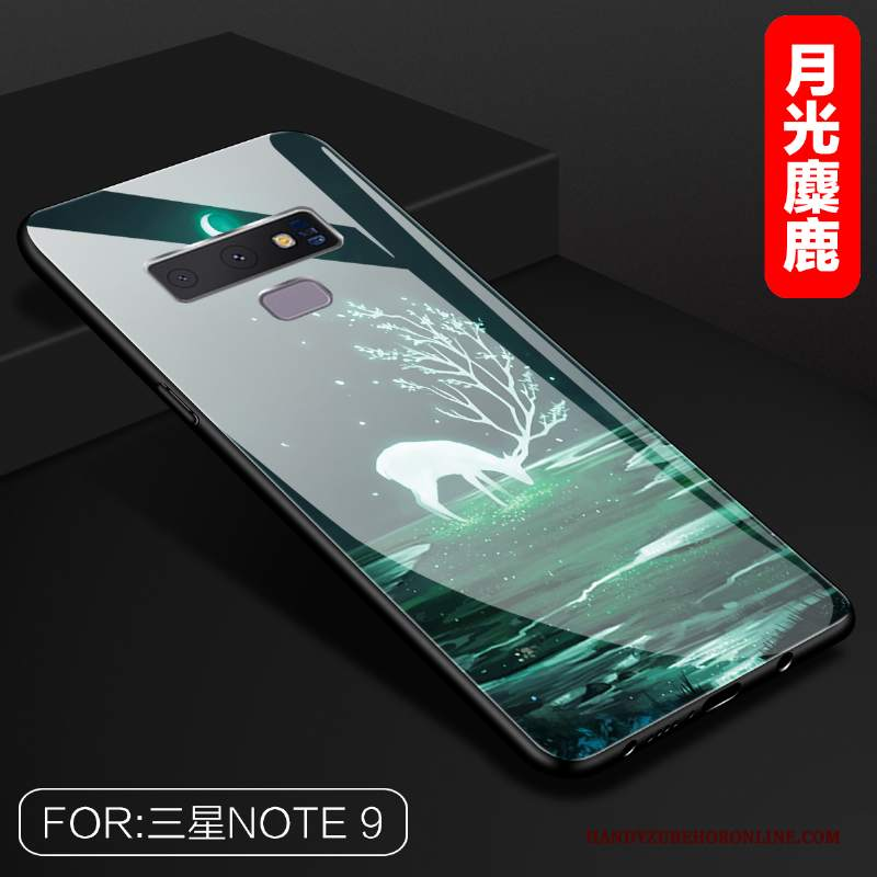 Custodia Samsung Galaxy Note 9 Creativo Verde Vetro, Cover Samsung Galaxy Note 9 Specchio Tutto Incluso