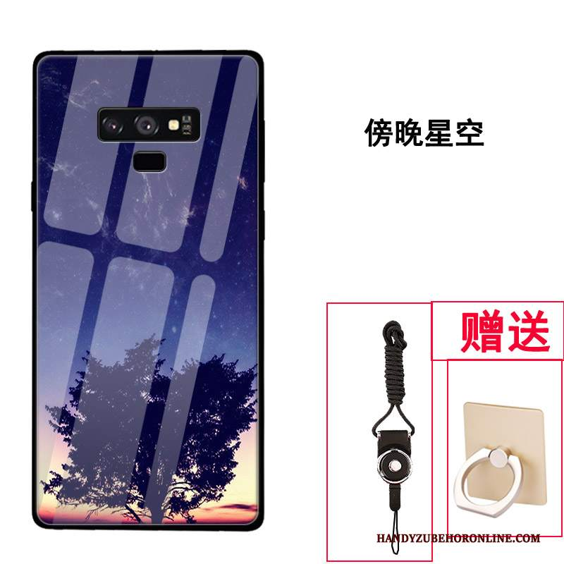 Custodia Samsung Galaxy Note 9 Creativo Vetro Tendenza, Cover Samsung Galaxy Note 9 Protezione Tutto Incluso Di Personalità