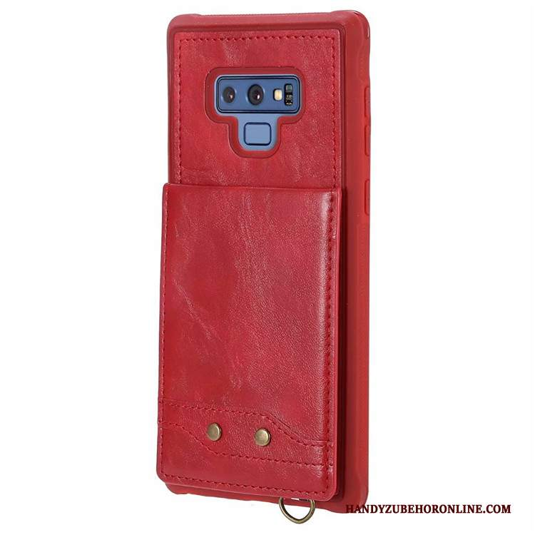 Custodia Samsung Galaxy Note 9 Pelle Ornamenti Appesitelefono, Cover Samsung Galaxy Note 9 Borse Carta Morbido