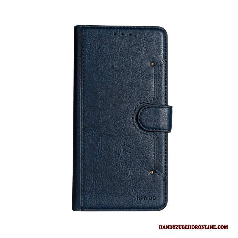 Custodia Samsung Galaxy S10+ Folio Blu Anti-caduta, Cover Samsung Galaxy S10+ Pelle Affari Morbido