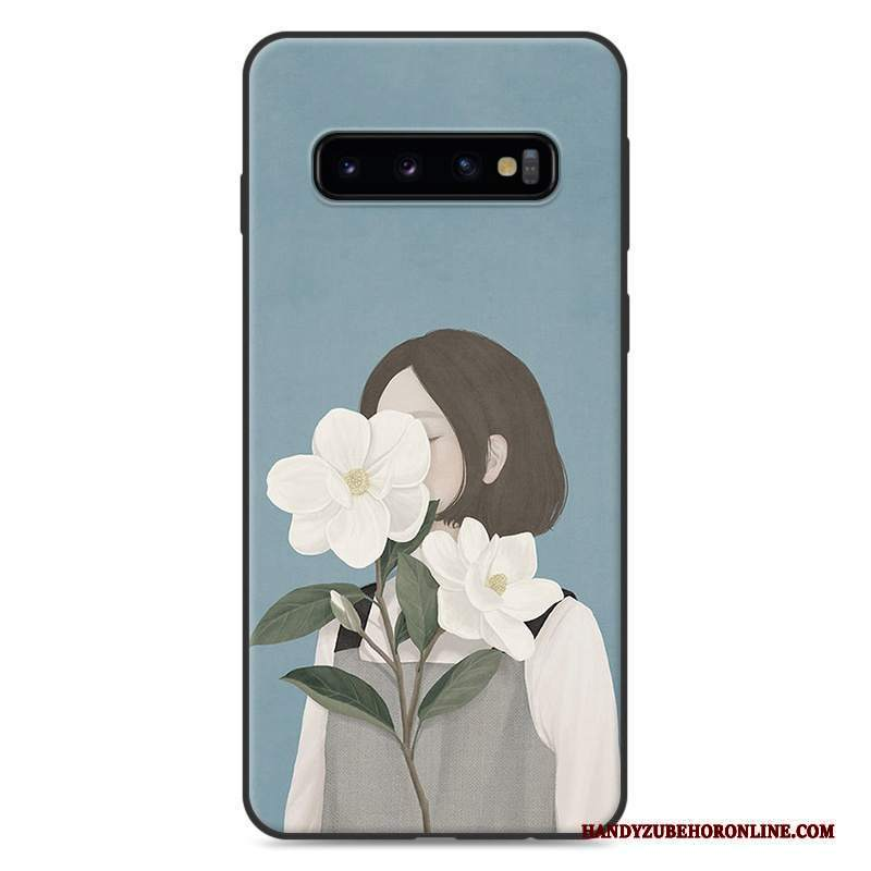 Custodia Samsung Galaxy S10+ Silicone Tutto Incluso Piccola, Cover Samsung Galaxy S10+ Arte Fresco