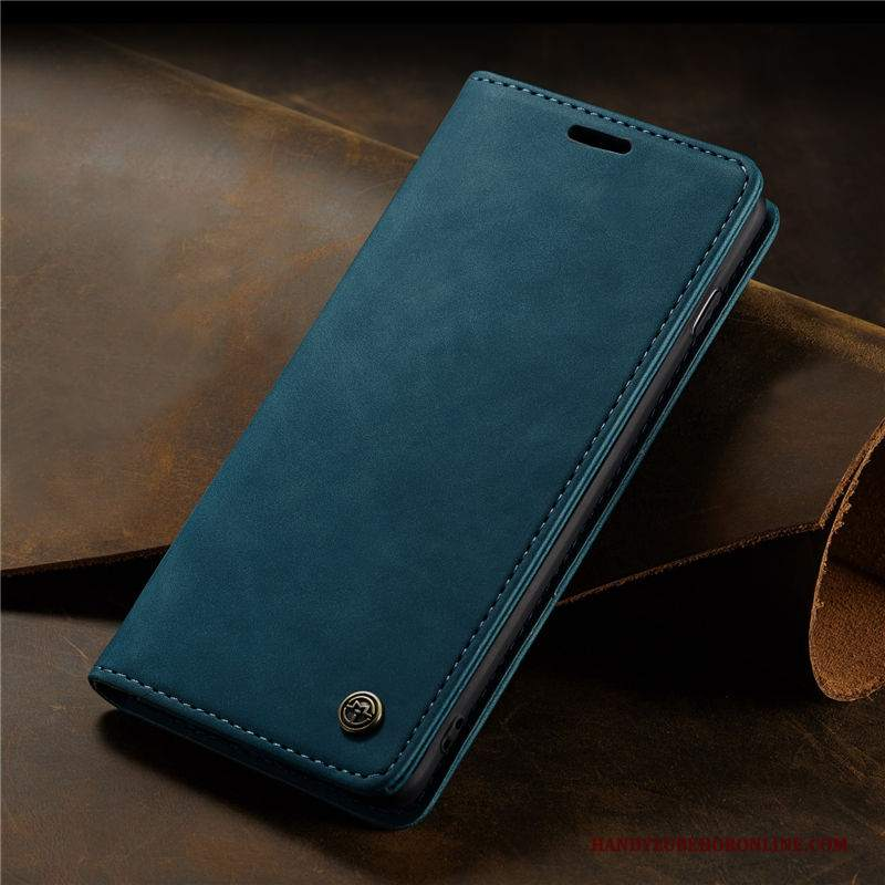 Custodia Samsung Galaxy S20 Pelle Anti-caduta Blu, Cover Samsung Galaxy S20 Folio Telefono Affari
