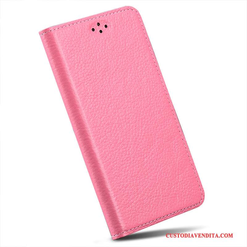 Custodia Samsung Galaxy S6 Edge + Folio Rosatelefono, Cover Samsung Galaxy S6 Edge + Pelle Anti-caduta