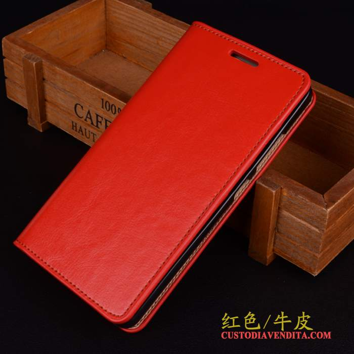 Custodia Samsung Galaxy S6 Edge + Pelle Telefono Rosso, Cover Samsung Galaxy S6 Edge + Folio Anti-caduta