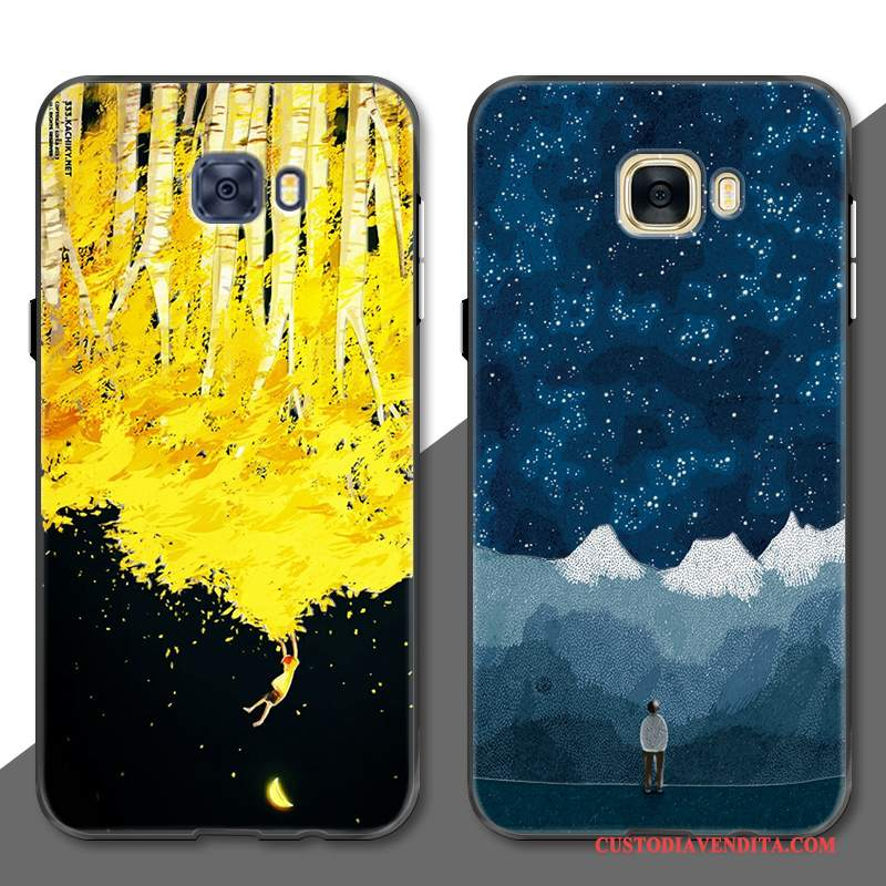 Custodia Samsung Galaxy S7 Edge Creativo Tutto Incluso Anti-caduta, Cover Samsung Galaxy S7 Edge Goffratura Giallotelefono