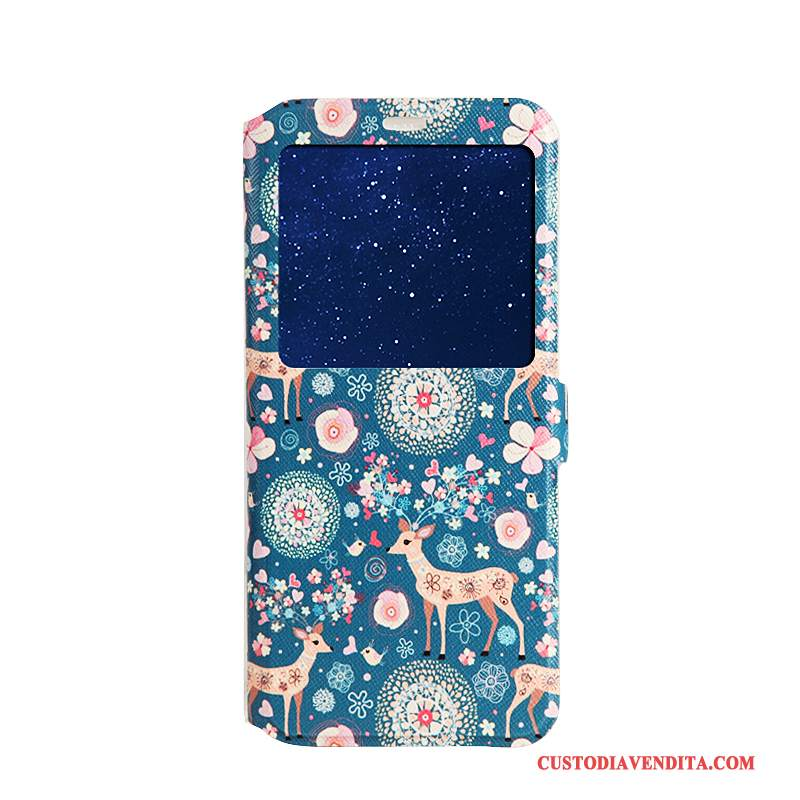 Custodia Samsung Galaxy S8+ Cartone Animato Telefono Blu, Cover Samsung Galaxy S8+ Folio Morbido Supporto