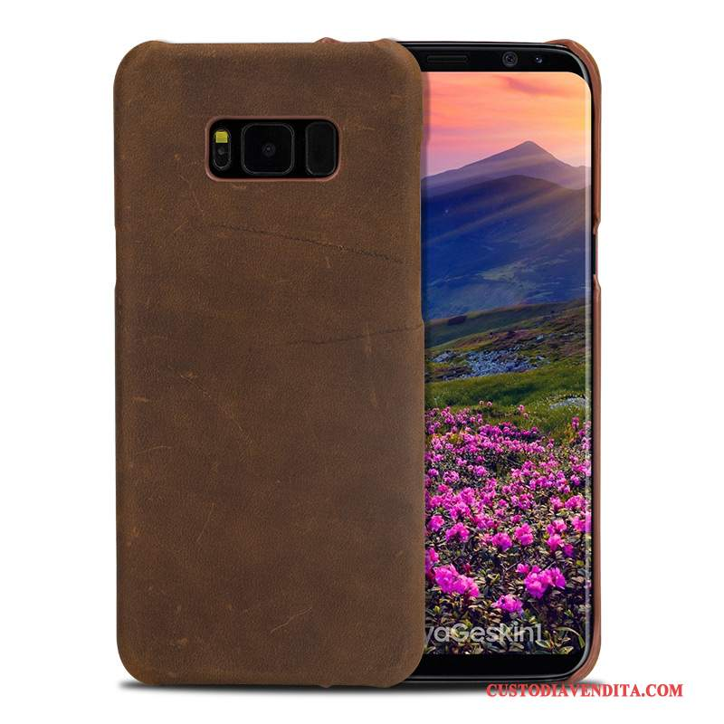 Custodia Samsung Galaxy S8+ Pelle High End Lusso, Cover Samsung Galaxy S8+ Moda Tendenzatelefono