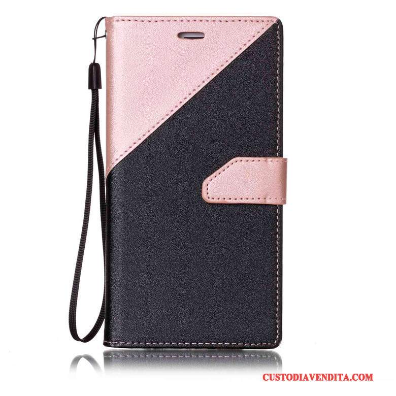 Custodia Sony Xperia E5 Folio Tutto Incluso Rosa, Cover Sony Xperia E5 Pelle Anti-cadutatelefono