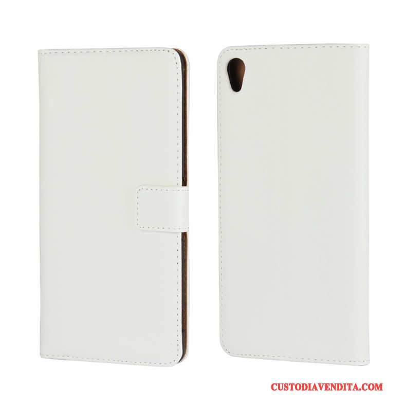 Custodia Sony Xperia Xa Ultra Pelle Supportotelefono, Cover Sony Xperia Xa Ultra Bianco Carta