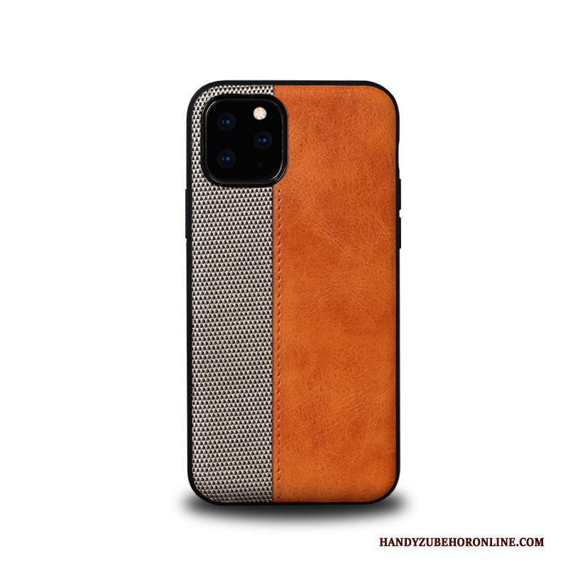 Custodia iPhone 11 Pro Pelle Affari Tendenza, Cover iPhone 11 Pro Protezione Anti-caduta High End