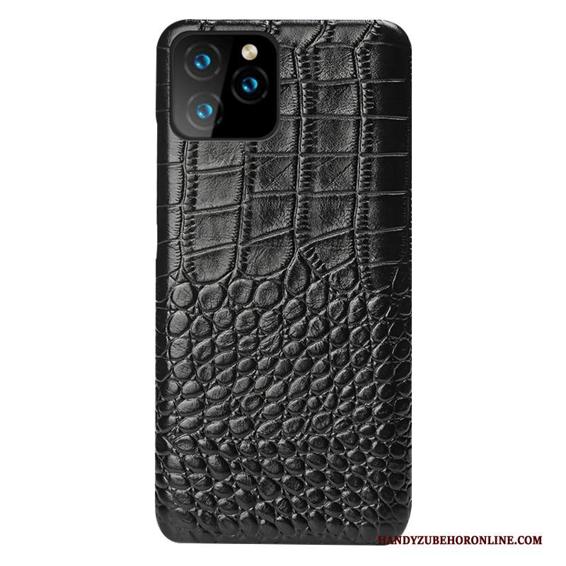 Custodia iPhone 11 Pro Pelle Difficile Nero, Cover iPhone 11 Pro Protezione Affari High End