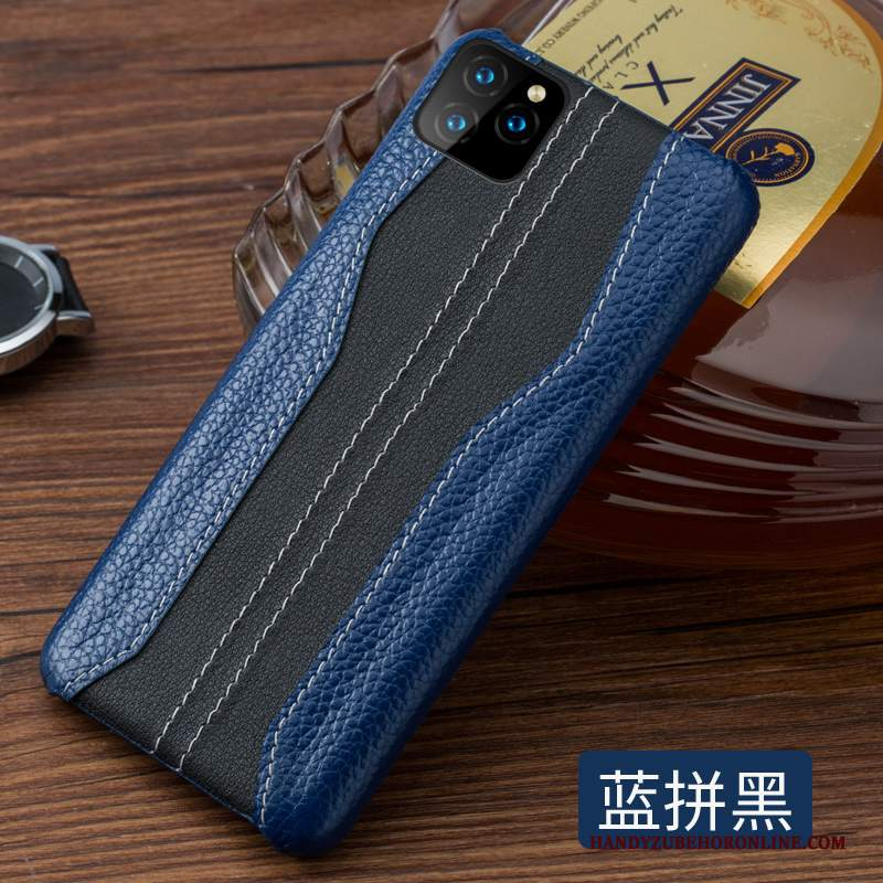 Custodia iPhone 11 Pro Pelle Tutto Incluso Personalizza, Cover iPhone 11 Pro Creativo Difficile Blu