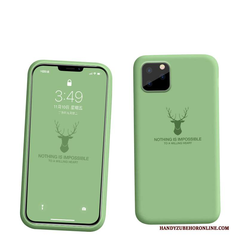 Custodia iPhone 11 Pro Silicone Morbido Tutto Incluso, Cover iPhone 11 Pro Protezione Telefono Verde