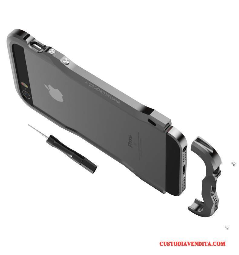 Custodia iPhone 5/5s Anti-caduta Metallo, Cover iPhone 5/5s Nerotelefono