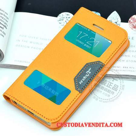 Custodia iPhone 5c Folio Arancionetelefono, Cover iPhone 5c Pelle