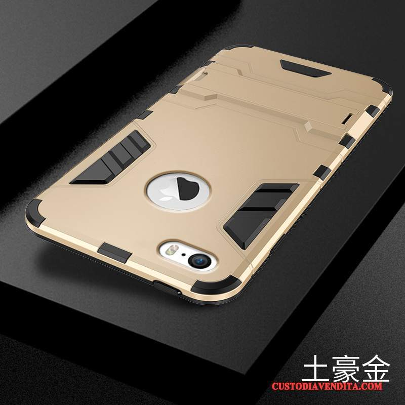 Custodia iPhone 5c Silicone Tutto Incluso Oro, Cover iPhone 5c Macchiatitelefono