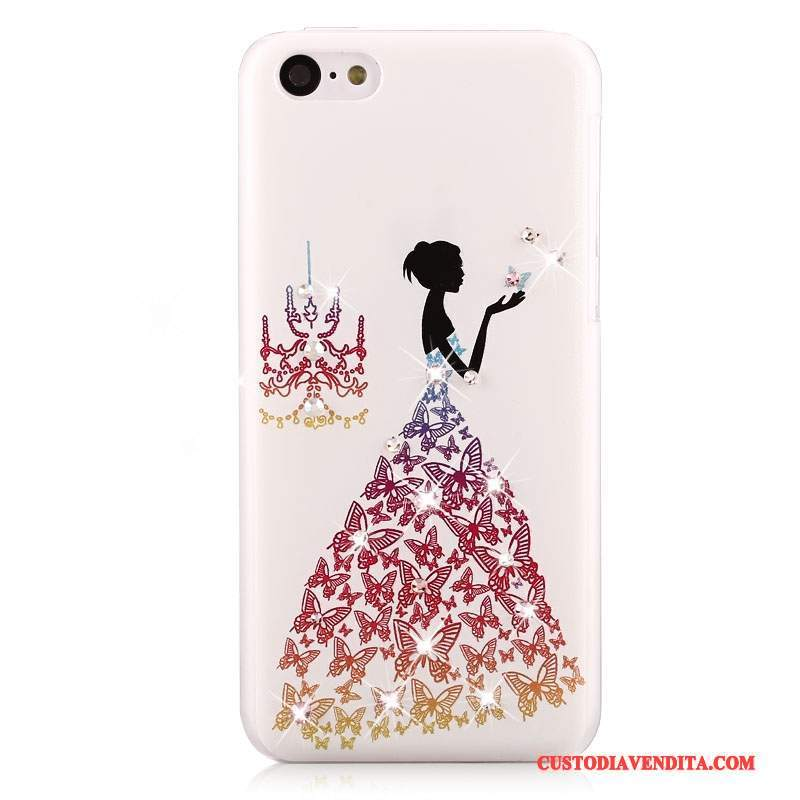 Custodia iPhone 5c Strass Difficile Macchiati, Cover iPhone 5c Colore Anti-caduta Tendenza
