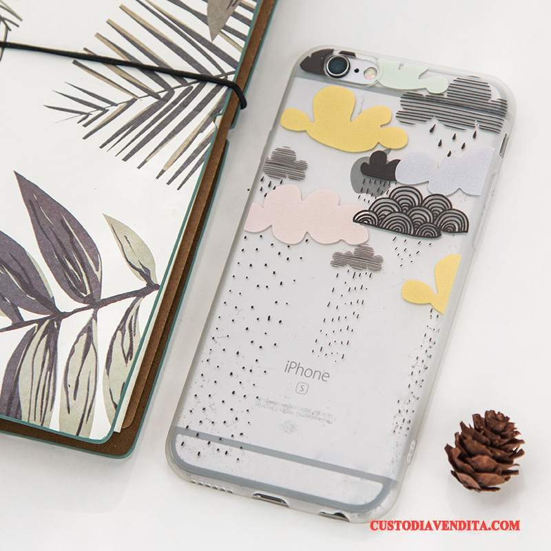 Custodia iPhone 6/6s Cartone Animato Bello Cuore, Cover iPhone 6/6s Creativo Telefono Tutto Incluso