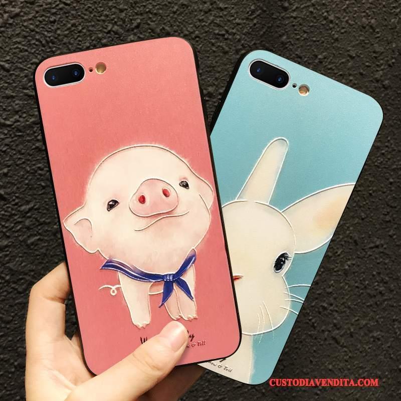 Custodia iPhone 6/6s Plus Cartone Animato Tutto Incluso Carino, Cover iPhone 6/6s Plus Goffratura Blu Rosso