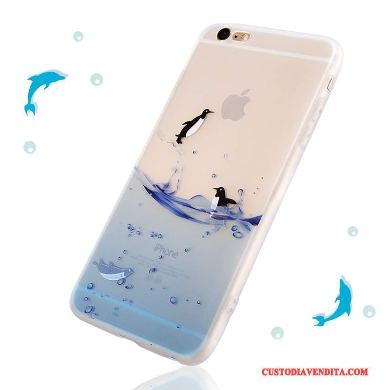 Custodia iPhone 6/6s Plus Creativo Ornamenti Appesi Blu, Cover iPhone 6/6s Plus Silicone Nuovo Morbido