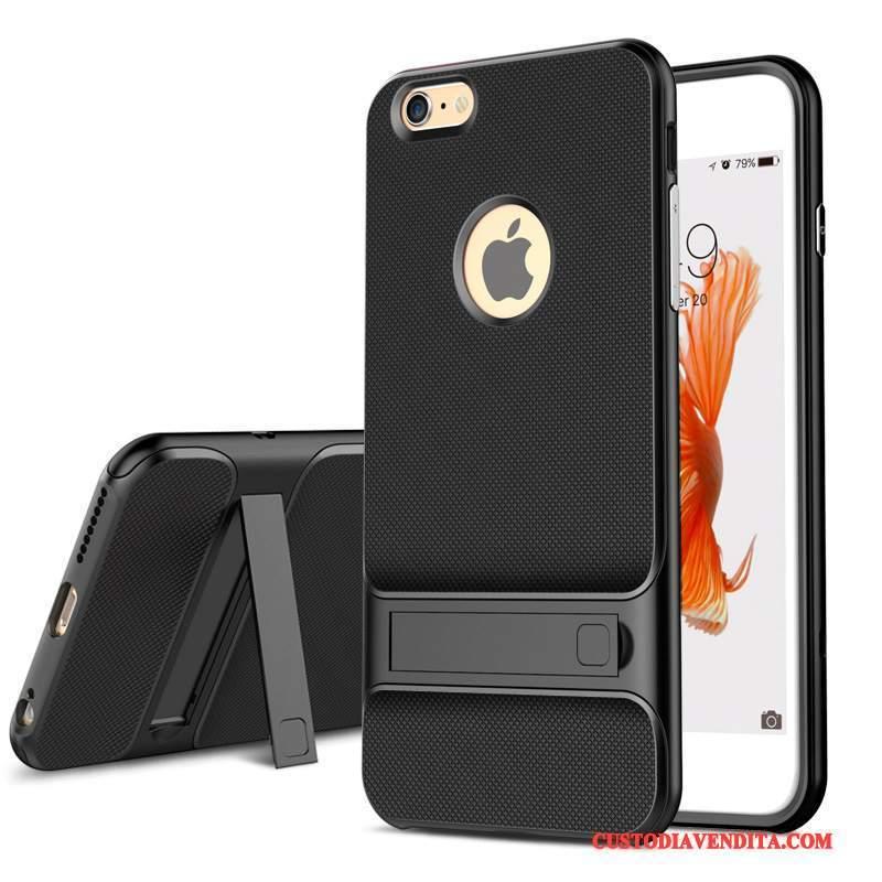 Custodia iPhone 6/6s Plus Silicone Anti-caduta Tendenza, Cover iPhone 6/6s Plus Protezione Nero Tutto Incluso