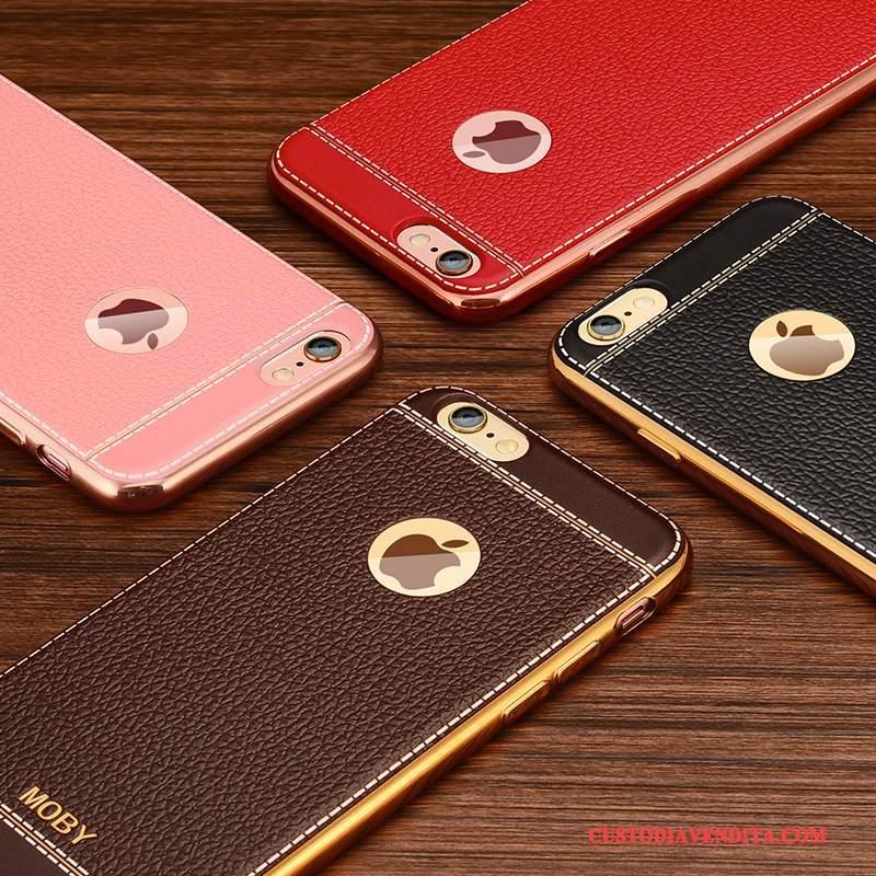 Custodia iPhone 6/6s Plus Silicone Morbido Sottili, Cover iPhone 6/6s Plus Colore Telaio Oro