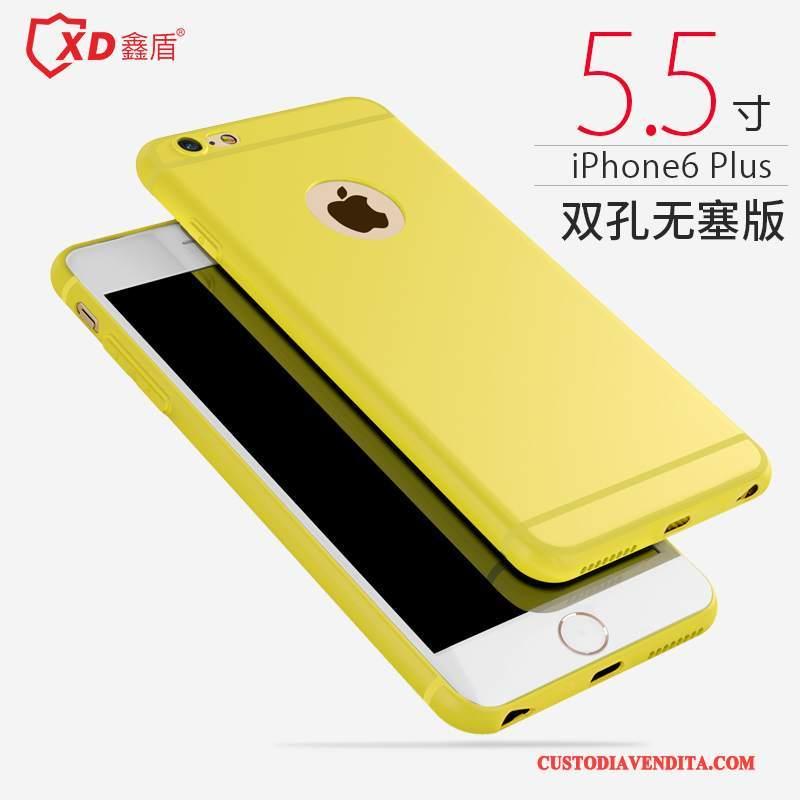 Custodia iPhone 6/6s Plus Silicone Semplici Tendenza, Cover iPhone 6/6s Plus Macchiati Anti-caduta