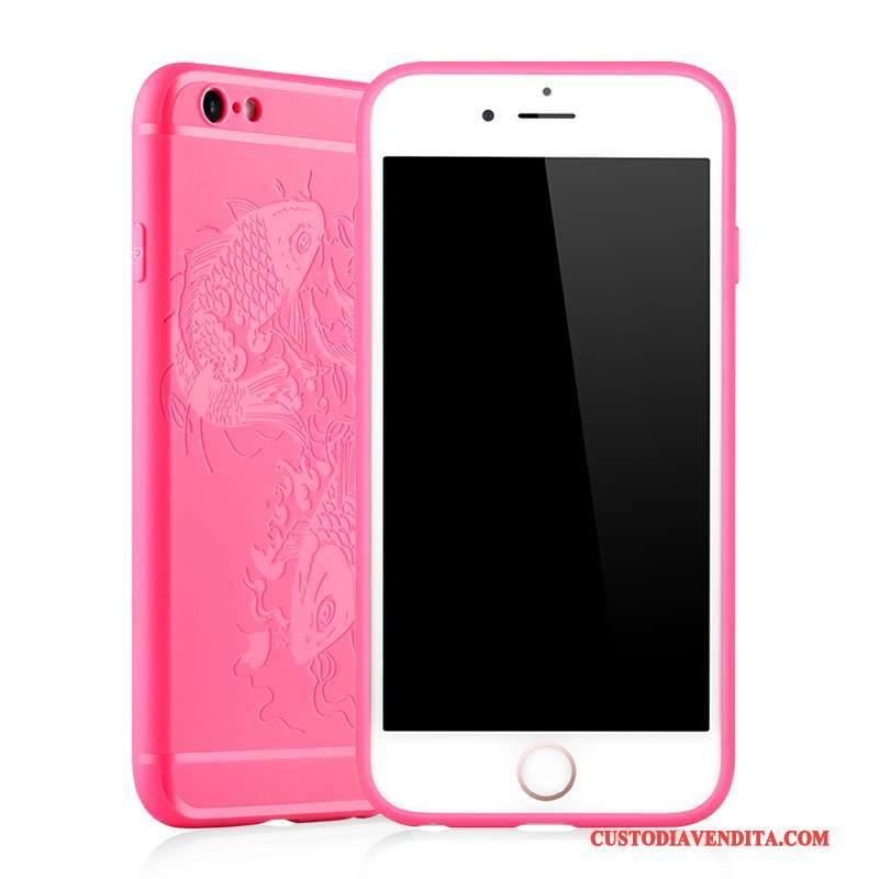 Custodia iPhone 6/6s Plus Silicone Telefono Rosso, Cover iPhone 6/6s Plus Protezione Morbido Tutto Incluso