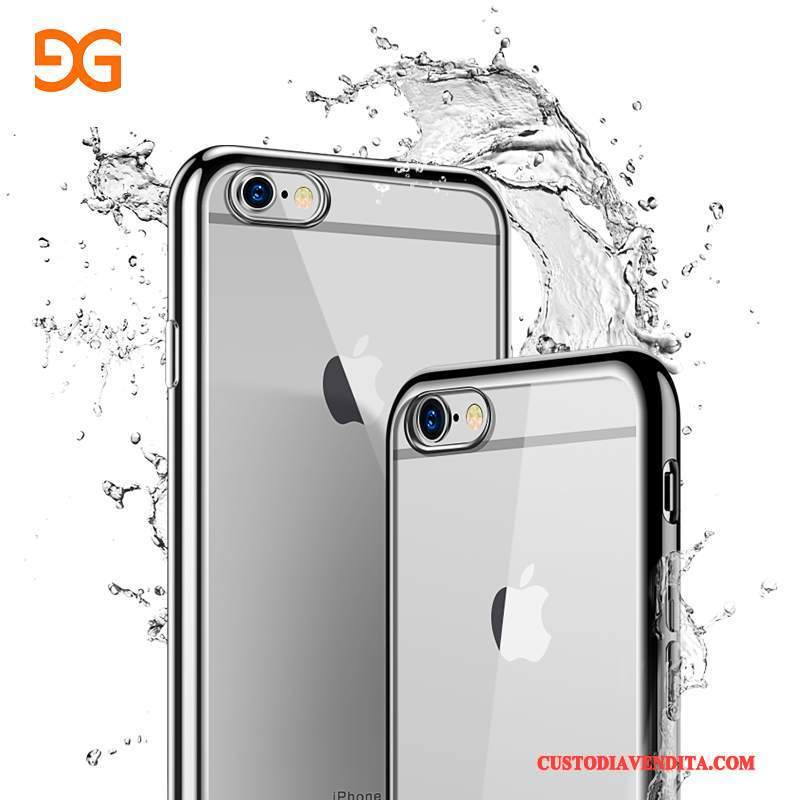 Custodia iPhone 6/6s Silicone Tutto Incluso Sottile, Cover iPhone 6/6s Argentotelefono