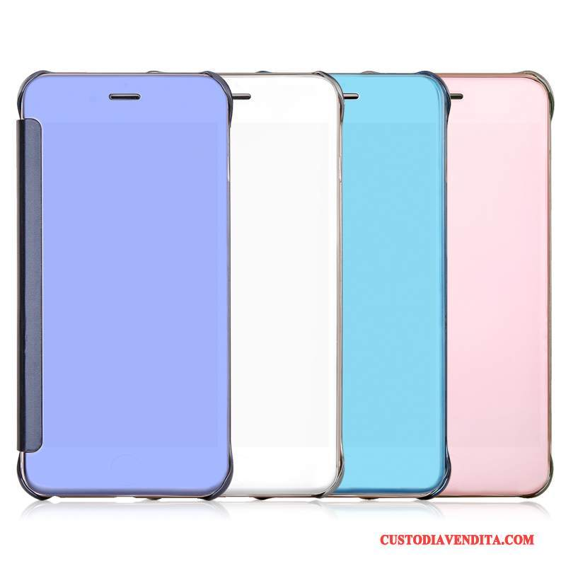 Custodia iPhone 7 Folio Dragotelefono, Cover iPhone 7 Pelle Specchio