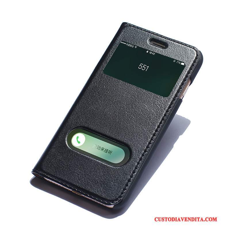 l'ultimo 6ec40 6b900 Custodia iPhone 7 Pelle Anti-caduta Mucca, Cover iPhone 7 Protezione  Nerotelefono