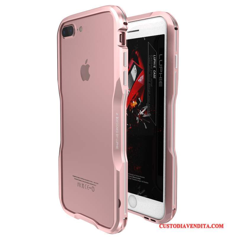 Custodia iPhone 7 Plus Creativo Metallotelefono, Cover iPhone 7 Plus Protezione Tendenza Anti-caduta