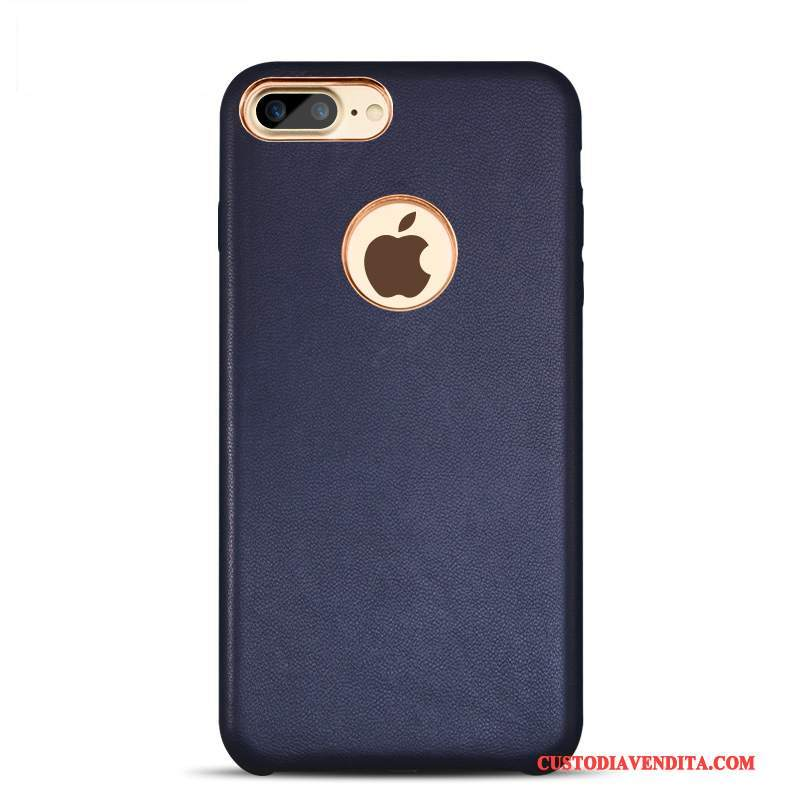Custodia iPhone 7 Plus Pelle Affaritelefono, Cover iPhone 7 Plus Protezione Tendenza Blu