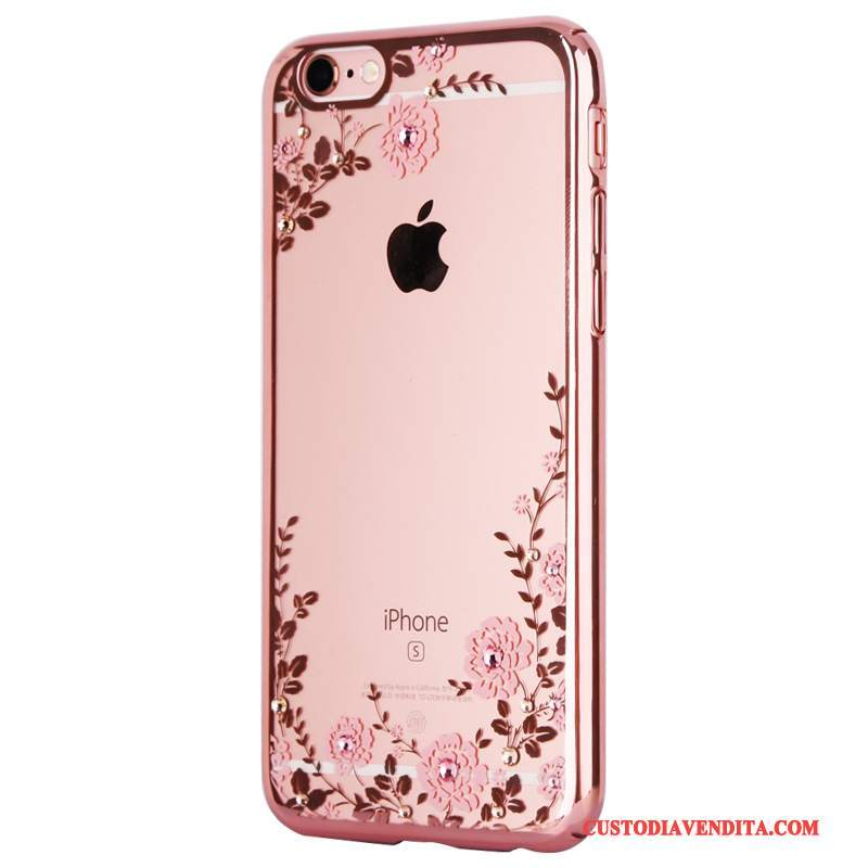 Custodia iPhone 7 Plus Strass Anti-cadutatelefono, Cover iPhone 7 Plus Tutto Incluso Lusso