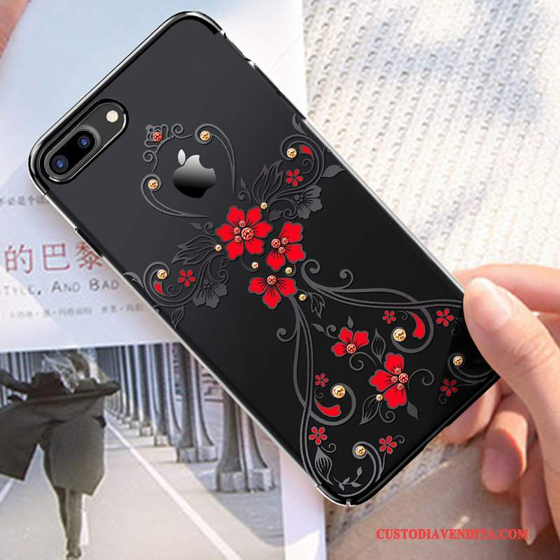 Custodia iPhone 7 Plus Strass Nuovotelefono, Cover iPhone 7 Plus Tutto Incluso Lusso