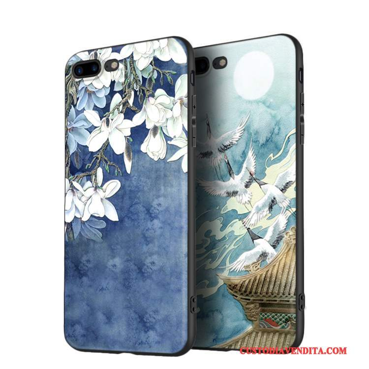Custodia iPhone 8 Creativo Anti-caduta Marchio Di Tendenza, Cover iPhone 8 Silicone Nuovo Blu