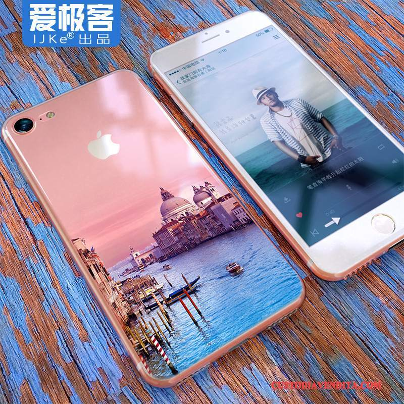Custodia iPhone 8 Creativo Anti-caduta Tendenza, Cover iPhone 8 Silicone Trasparente Ornamenti Appesi