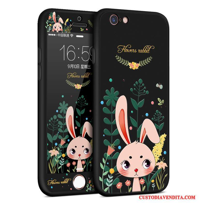 Custodia iPhone 8 Plus Cartone Animato Macchiati Morbido, Cover iPhone 8 Plus Silicone Sottile Anti-caduta