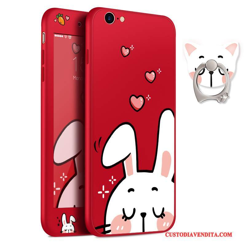 Custodia iPhone 8 Plus Cartone Animato Telefono Rosso, Cover iPhone 8 Plus Silicone Ornamenti Appesi Sottili