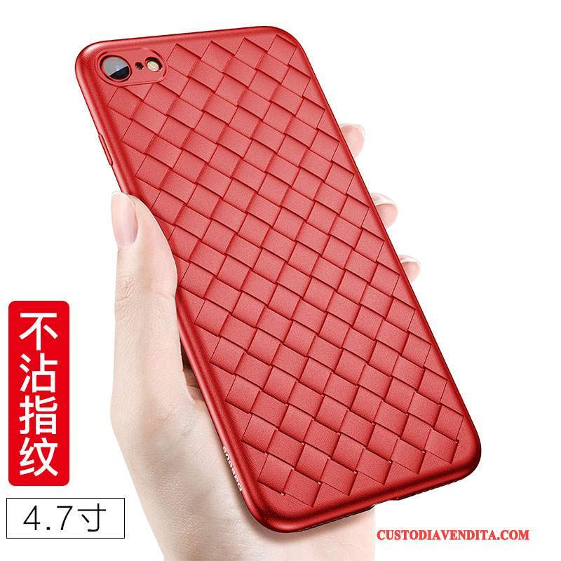 Custodia iPhone 8 Plus Creativo Anti-caduta Tutto Incluso, Cover iPhone 8 Plus Silicone Rossotelefono