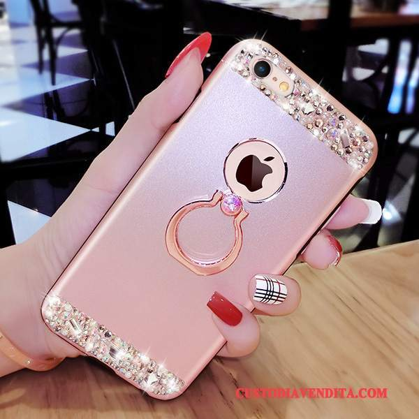 Custodia iPhone 8 Plus Creativo Lusso Rosa, Cover iPhone 8 Plus Silicone Telefono Fibbia