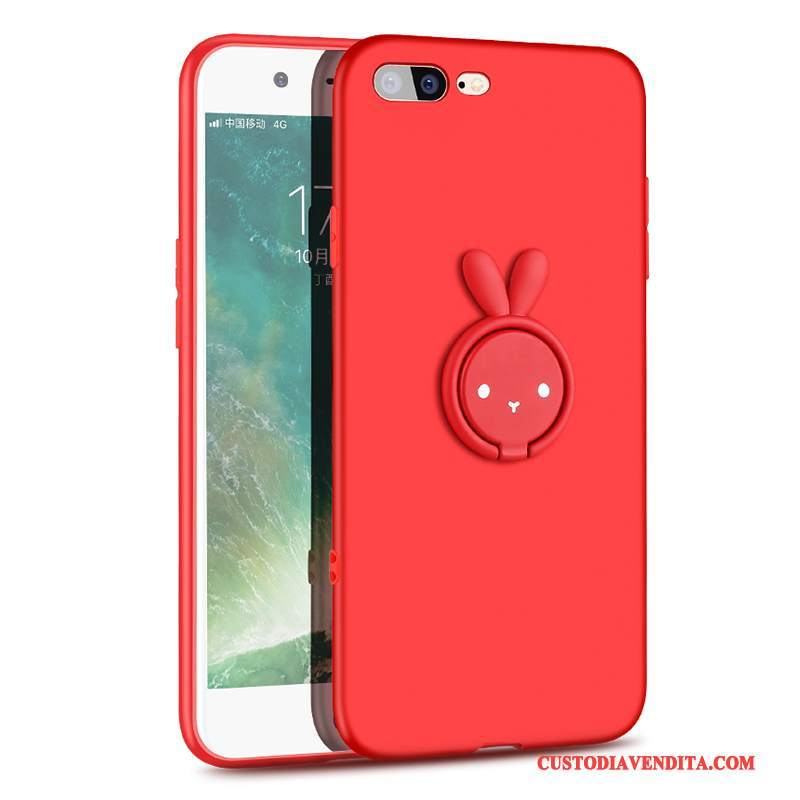 Custodia iPhone 8 Plus Creativo Rosso Anti-caduta, Cover iPhone 8 Plus Silicone Di Personalitàtelefono