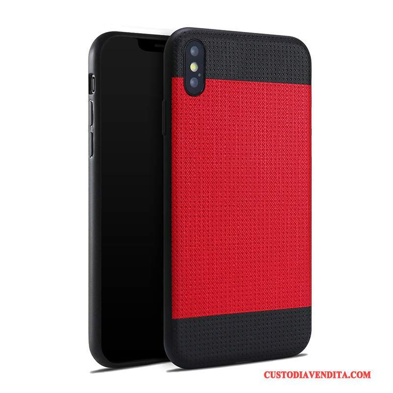 Custodia iPhone 8 Plus Silicone Anti-caduta Tendenza, Cover iPhone 8 Plus Pelle Nuovo Rosso