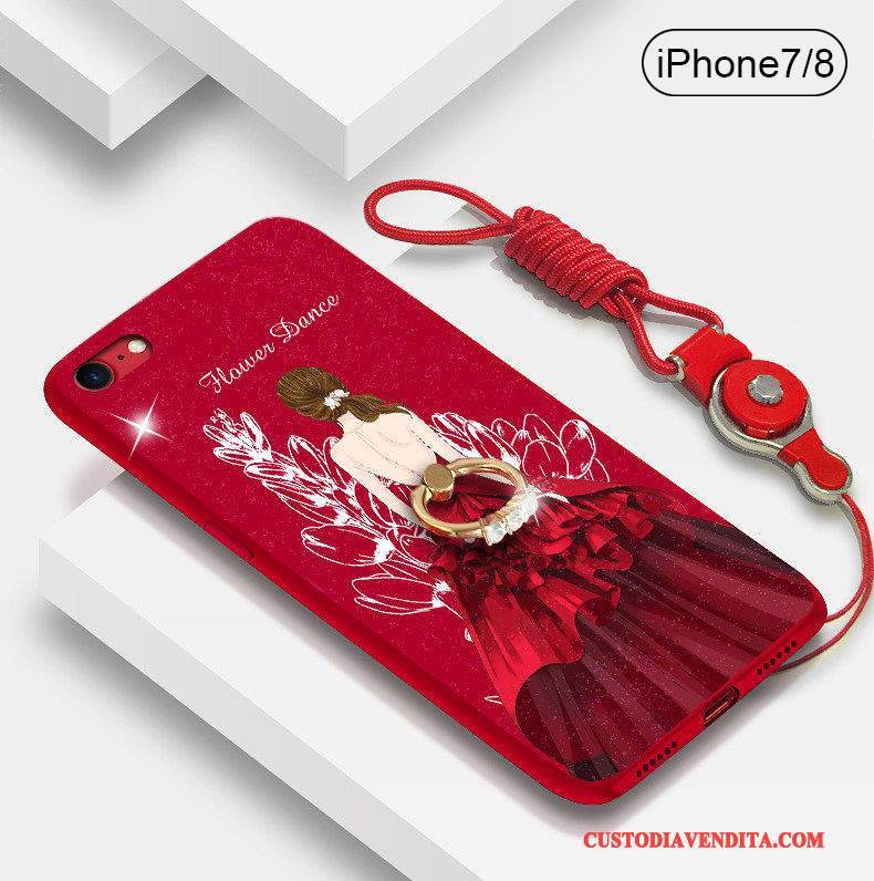 Custodia iPhone 8 Plus Silicone Marchio Di Tendenzatelefono, Cover iPhone 8 Plus Rosso Nuovo